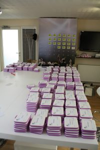 Organising badges for TVC 2012